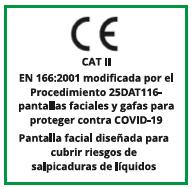 Certificado CE pantalla facial